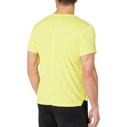 Asıcs Lemon Spark Run Silver Short Sleeve Top - Thumbnail