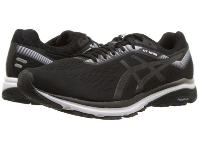 Asics - Asics Men Black/White Gt-1000 7 Running Shoes