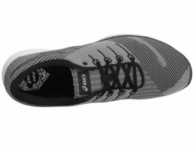 Asics - ASICS Men's Carbon Black White fuzeX Knit Running Shoes