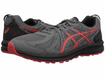 Asics - ASICS Men's Carbon Red Alert Frequent Trail Running Shoes