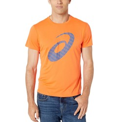 Asıcs Nova Orange Run Silver Short Sleeve Graphic 3 Top - Thumbnail