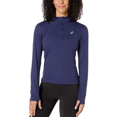 Asics - Asıcs Peacoat Run Silver Long Sleeve 1/2 Zip Top