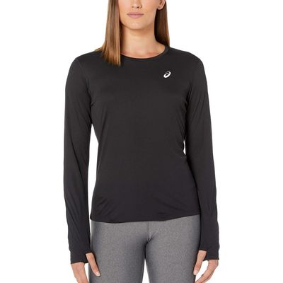 Asics - Asıcs Performance Black Run Silver Long Sleeve Top