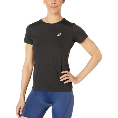Asics - Asıcs Performance Black Run Silver Short Sleeve Top