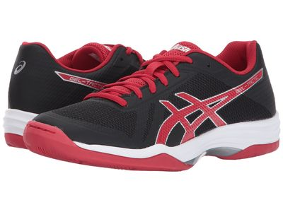 Asics - Asics Women Black/Prime Red/Silver Gel-Tactic 2 Athletic Shoes