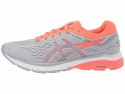Asics Women Mid Grey/Flash Coral Gt-1000 7 Running Shoes - Thumbnail