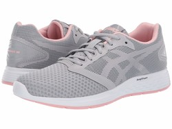 Asics Women Mid Grey/Frosted Rose Patriot 10 Running Shoes - Thumbnail