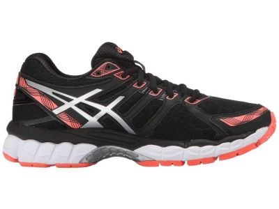 Asics - ASICS Women's Black/Silver/Flash Coral Gel-Evate™ 3 Sneakers Athletic Shoes 8455886590551