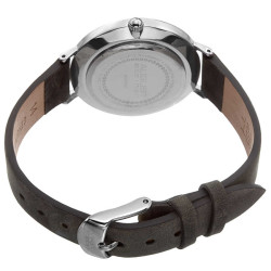 August Steiner Classic Women's Japanese Quartz 'Crazy Horse' Leather Strap Watch AS8187GY - Thumbnail