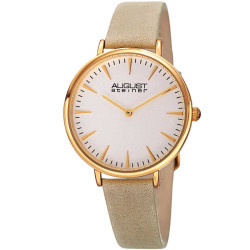 August Steiner Classic Women's Japanese Quartz 'Crazy Horse' Leather Strap Watch AS8187WTG - Thumbnail