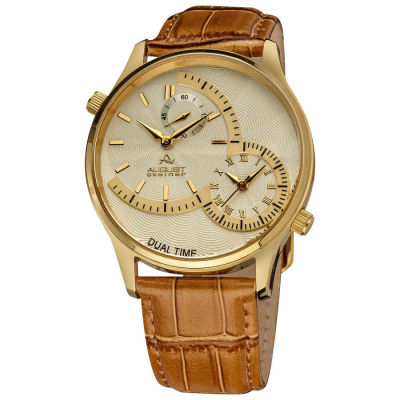 August Steiner - August Steiner Dual Time Men's Quartz Watch AS8010YG