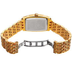 August Steiner Men's .10g Gold Bar Tonneau Bracelet Watch AS8226YG - Thumbnail