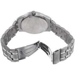 August Steiner Men's Crystal Markers Sunray Dial Bracelet Watch AS8068SSB - Thumbnail