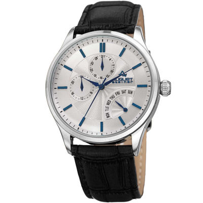August Steiner - August Steiner Men's Multifunction Genuine Leather Strap Watch AS8209SSBU