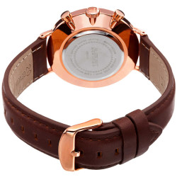 August Steiner Men's Multifunction Genuine Leather Strap Watch AS8212RGB - Thumbnail