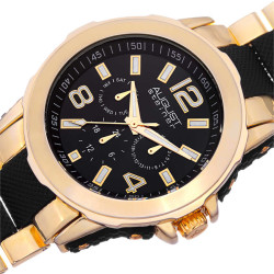 August Steiner Men's Quartz Multifunction Bracelet Watch AS8114YG - Thumbnail