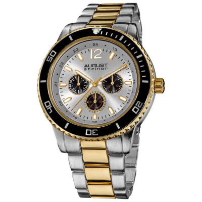 August Steiner - August Steiner Men's Quartz Multifunction Divers Bracelet Watch