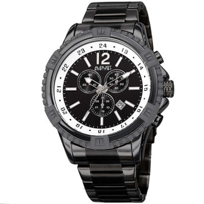 August Steiner - August Steiner Men's Swiss Quartz Chronograph Stainless Steel Bracelet Watch AS8229BK