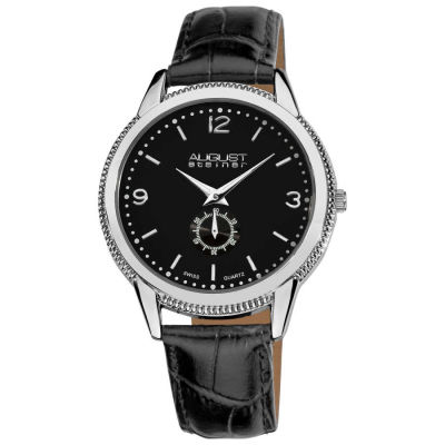 August Steiner - August Steiner Men's Swiss Quartz Leather Strap Watch AS8020SS