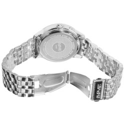 August Steiner Men's Swiss Quartz Multifunction Diamond Bracelet Watch AS8050SSB - Thumbnail