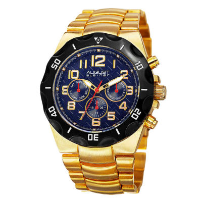 August Steiner - August Steiner Men's Swiss Quartz Multifunction Dual-Time Bracelet Watch AS8161YGBU