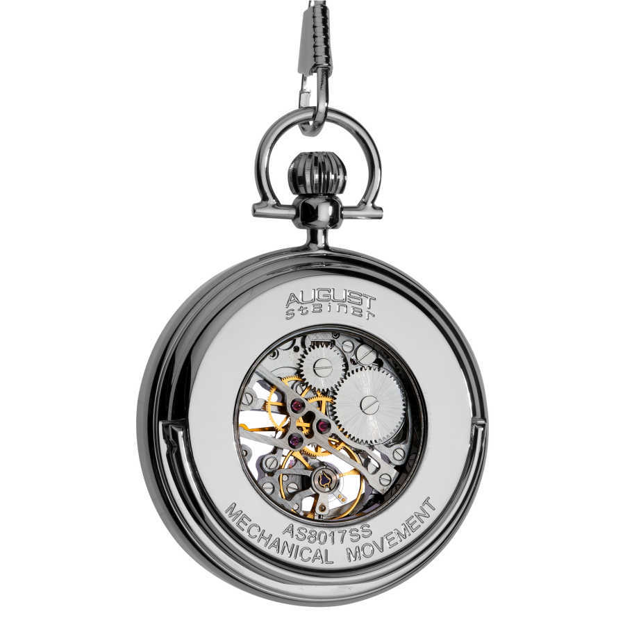 August Steiner Men's Water-Resistant Automatic Pocket Watch AS8017SS