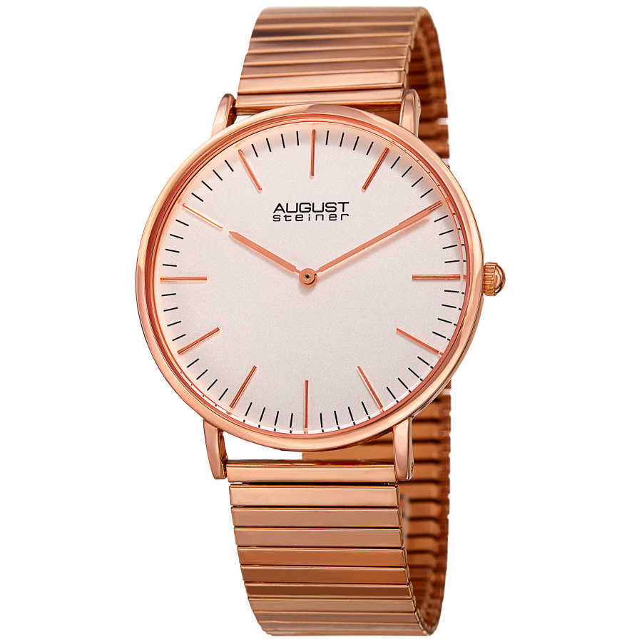August Steiner Women's Classic Expansion Band Bracelet Watch AS8216RG