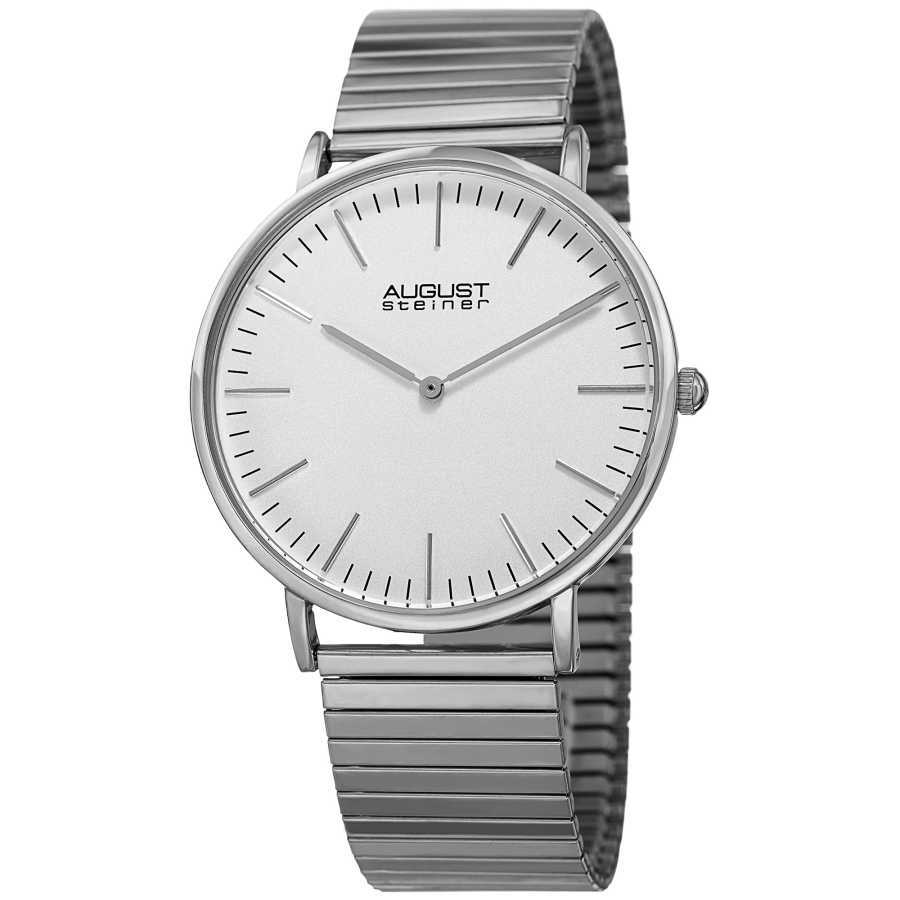 August Steiner Women's Classic Expansion Band Bracelet Watch AS8216SS