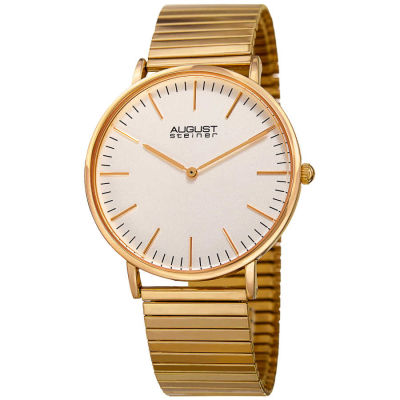 August Steiner - August Steiner Women's Classic Expansion Band Bracelet Watch AS8216YG