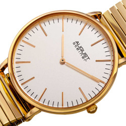 August Steiner Women's Classic Expansion Band Bracelet Watch AS8216YG - Thumbnail