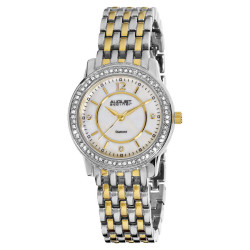 August Steiner Women's Dazzling Diamond Bracelet Watch with Mother-of-Pearl Dial AS8027TTG - Thumbnail