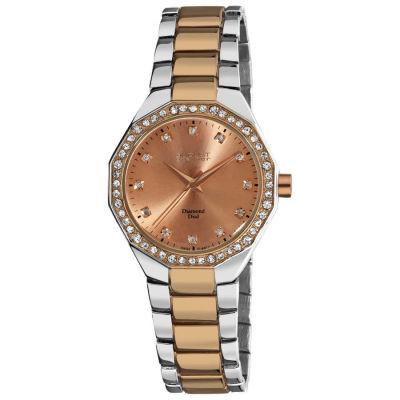August Steiner - August Steiner Women's Diamond Water-Resistant Swiss-Quartz Bracelet Watch AS8044TTR