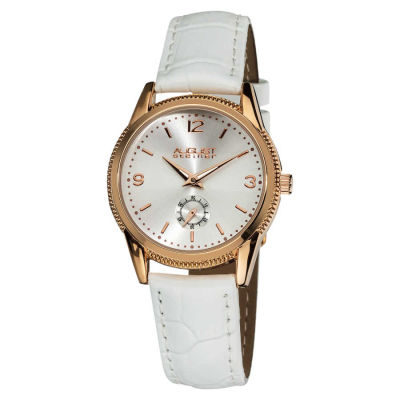 August Steiner - August Steiner Women's Genuine Leather Swiss Quartz Watch AS8021RG