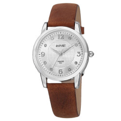 August Steiner Women's Japanese Quartz Diamond Leather Strap Watch AS8198BR - Thumbnail