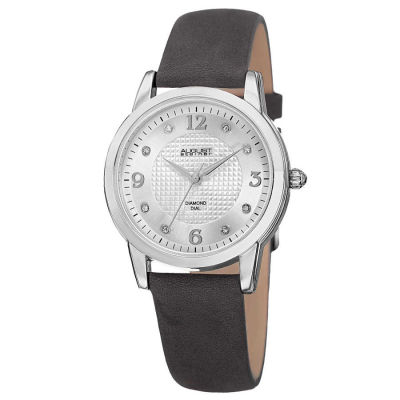 August Steiner - August Steiner Women's Japanese Quartz Diamond Leather Strap Watch AS8198GY