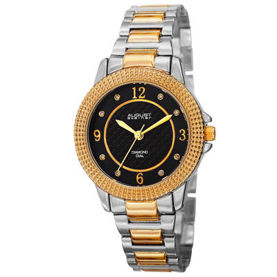 August Steiner - August Steiner Women's Japanese Quartz Diamond Markers MOP Dial Bracelet Watch AS8154TTG