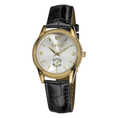 August Steiner - August Steiner Women's Leather Strap Watch AS8021YG