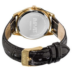 August Steiner Women's Leather Strap Watch AS8021YG - Thumbnail