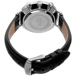 August Steiner Women's Multifunction Genuine Leather Strap Watch AS8220BK - Thumbnail