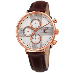 August Steiner Women's Multifunction Genuine Leather Strap Watch AS8220BRRG - Thumbnail