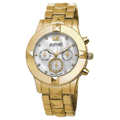 August Steiner - August Steiner Women's Swiss Quartz Crystal Multifunction Bracelet Watch AS8107YG