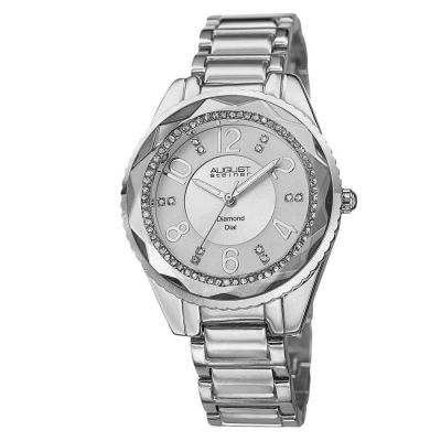 August Steiner - August Steiner Women's Swiss Quartz Diamond Crystal Bracelet Watch AS8122SS