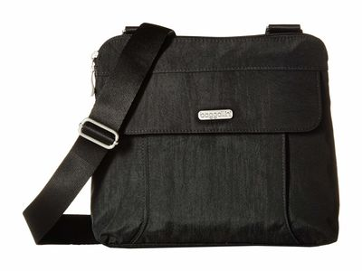 Baggallini - Baggallini Black/Sand Legacy All İn Rfid Cross Body Bag