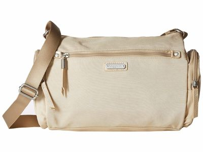 Baggallini - Baggallini Champagne Shimmer New Classic Road Trip Hobo Cross Body Bag