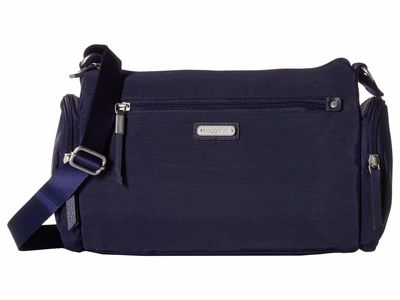 Baggallini - Baggallini Navy New Classic Road Trip Hobo Cross Body Bag