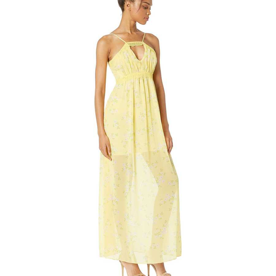 Bcbgeneration Banana Lace Trim Maxi Dress - Tww6196478