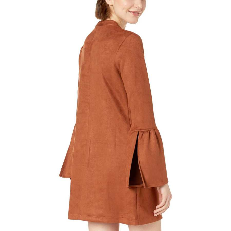 Bcbgeneration Cinnamon Day Flare Sleeve Neck Tie A-Line Dress