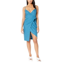 Bcbgeneration Electric Blue Wrap Midi Dress Tdz6222791 - Thumbnail