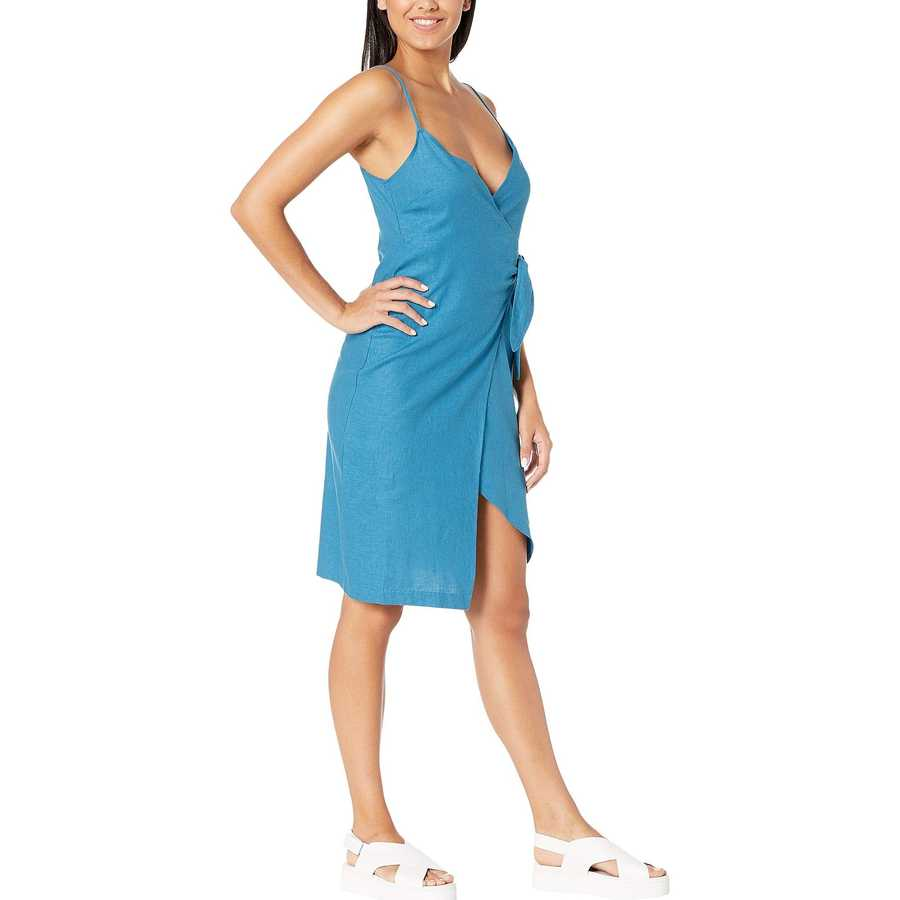 Bcbgeneration Electric Blue Wrap Midi Dress Tdz6222791
