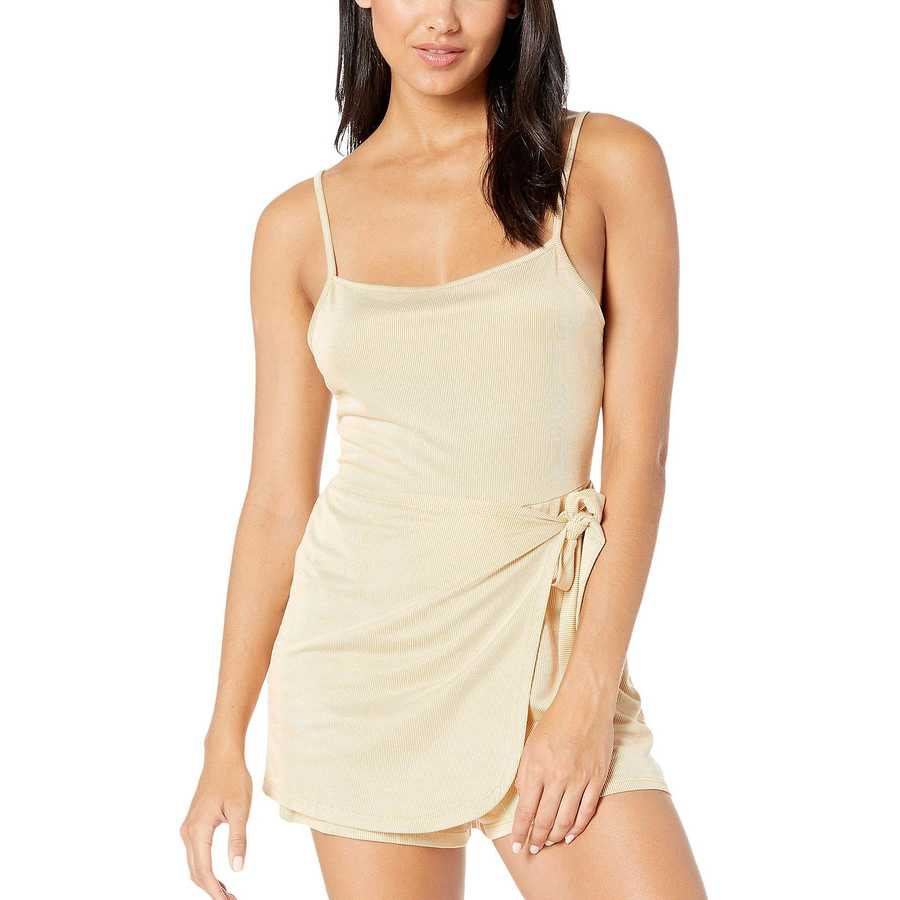 Bcbgeneration Mustard Wrap Front Romper Tdy9210409